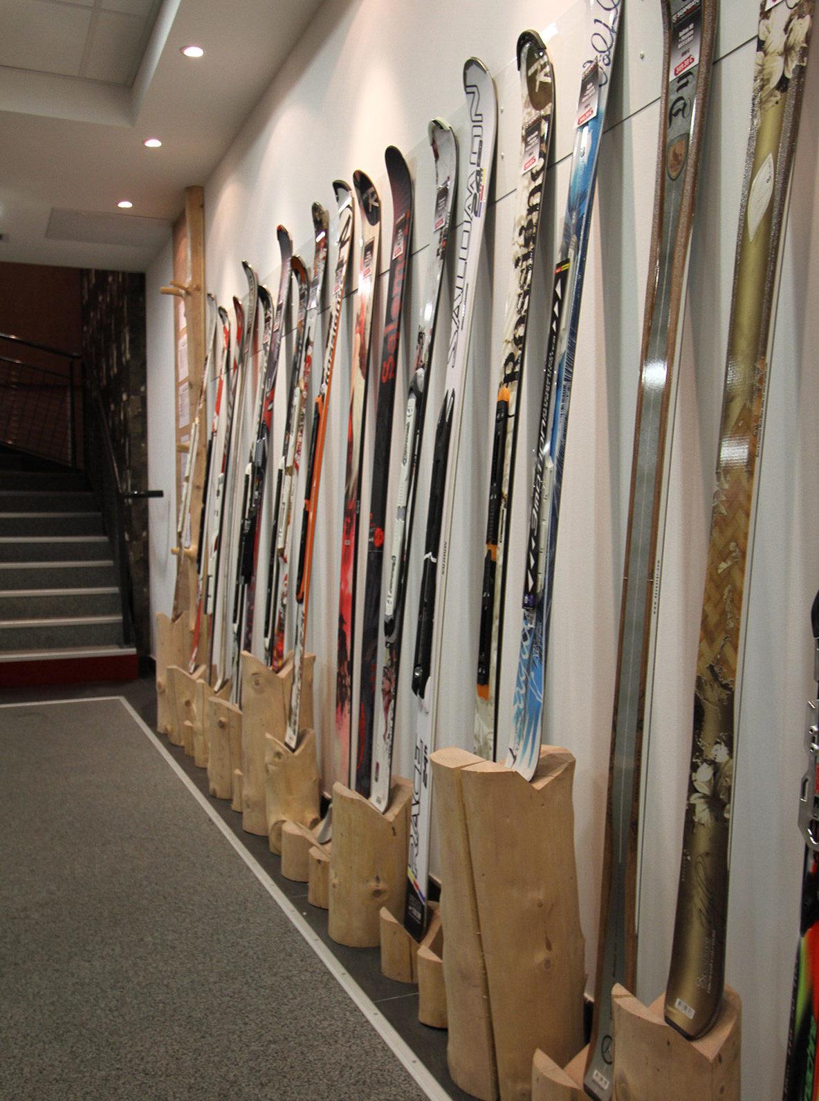 Présentoir à ski