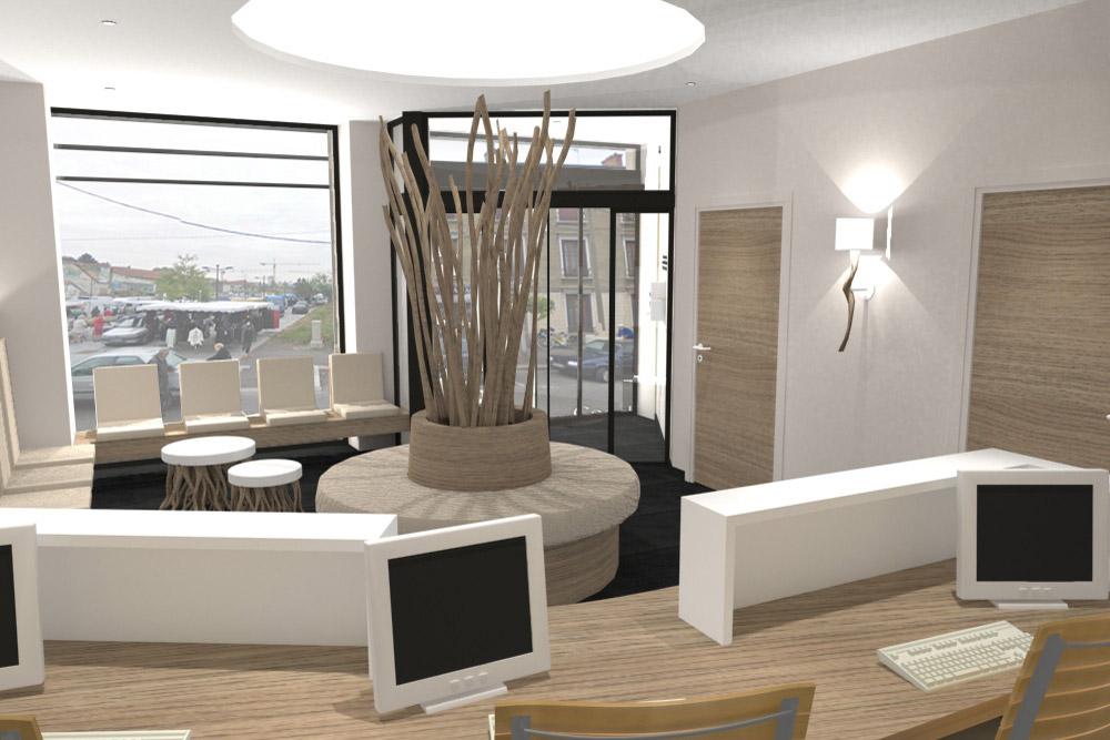 Réception, image 3D